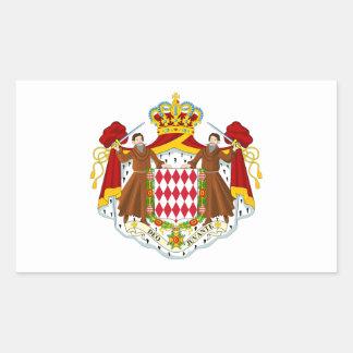 Monaco/Monegasque/Monacan Flag Rectangular Sticker