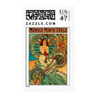Monaco Monte Carlo Art Nouveau Postage