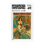 Monaco Monte Carlo Art Nouveau Postage Stamps
