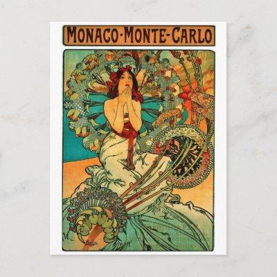 art nouveau. Monaco Monte Carlo Art Nouveau
