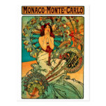 Monaco Monte Carlo Art Nouveau Postcard