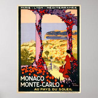 Monaco. Monte-Carlo. Au pays du soleil Poster
