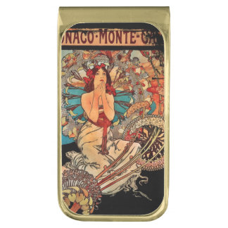 Monaco Monte-Carlo Beauty Gold Finish Money Clip