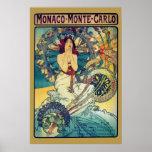 Monaco Monte-Carlo (Gold) Poster