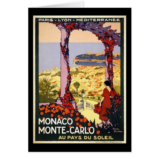 Monaco Monte Carlo Greeting Card