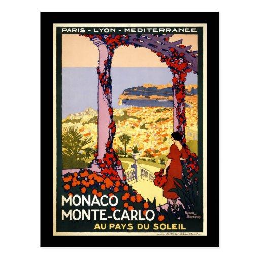 Monaco Monte Carlo Post Card