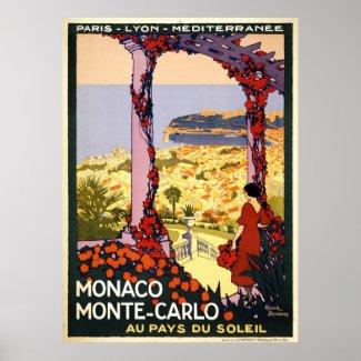 Monaco Monte Carlo print