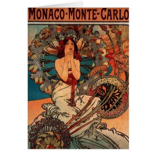 Monaco Monte Carlo Stationery Note Card