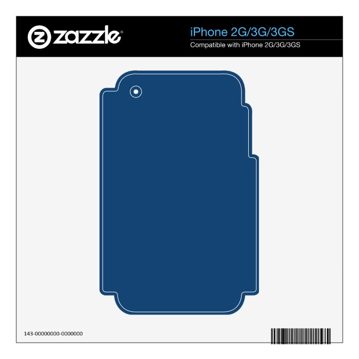 Monaco Noble Blue Solid Color Decal For The iPhone 3GS
