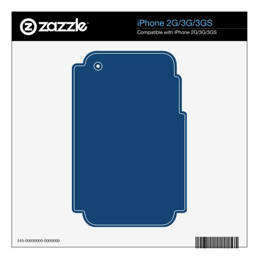 Monaco Noble Blue Solid Color iPhone 3G Skin