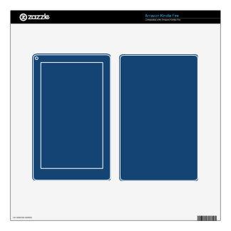 Monaco Noble Blue Solid Color Kindle Fire Decal