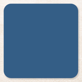 Monaco Noble Blue Solid Color Square Paper Coaster