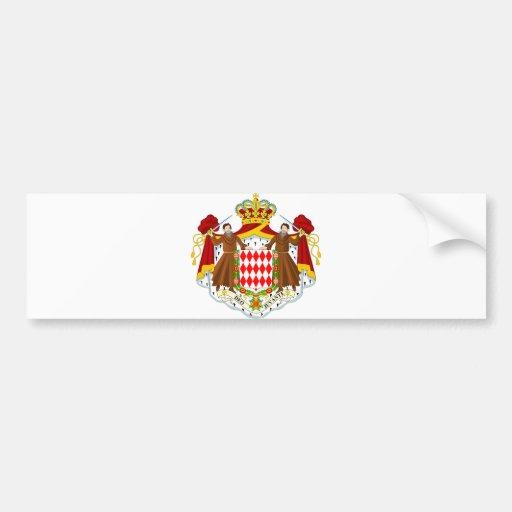 Monaco Official Coat Of Arms Heraldry Symbol Bumper Stickers
