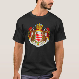 Monaco Official Coat Of Arms Heraldry Symbol T-Shirt