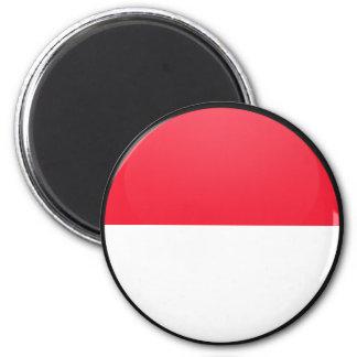 Monaco quality Flag Circle Fridge Magnets