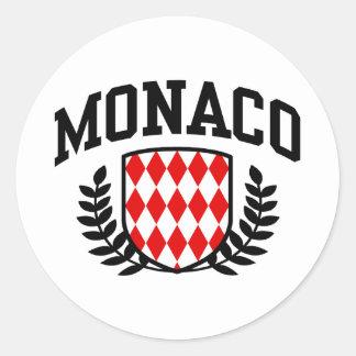 Monaco Round Stickers