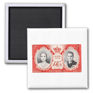 Monaco Royalty Postage Stamp Magnet