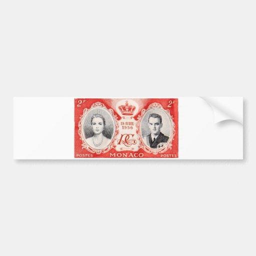 Monaco Royalty Postage Stamp Sticker Car Bumper Sticker