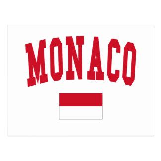 Monaco Style Postcard