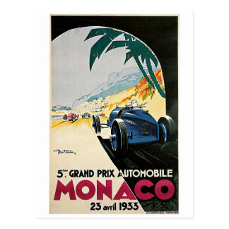Monaco Vintage Racing Postcard