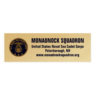 Monadnock Squadron Gold Recruiting Cards Business Cards