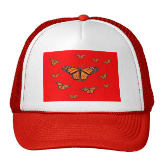 Monaech Butterflies, Chinese Red Gifts By sharles Trucker Hat