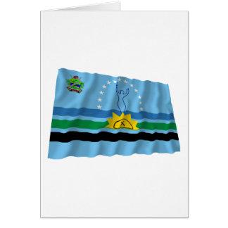 Monagas Waving Flag Card