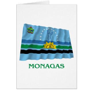 Monagas Waving Flag with Name Card