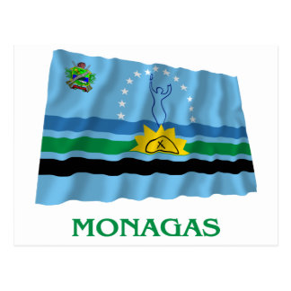 Monagas Waving Flag with Name Postcard