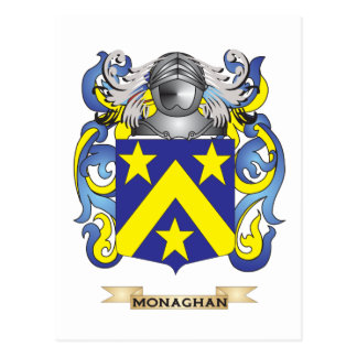 Monaghan Coat of Arms Family Crest Post Card