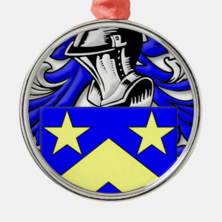 Monahan Coat of Arms Round Metal Christmas Ornament