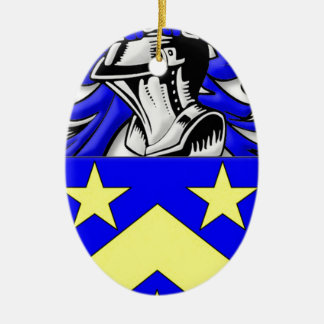 Monahan Coat of Arms Double-Sided Oval Ceramic Christmas Ornament