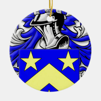 Monahan Coat of Arms Double-Sided Ceramic Round Christmas Ornament