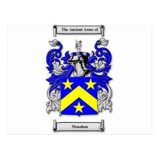 Monahan Coat of Arms Postcard
