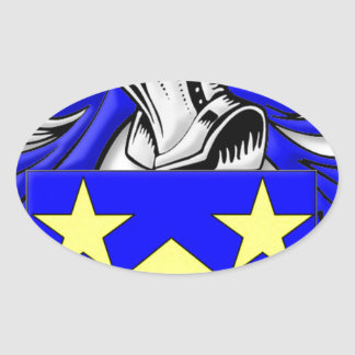 Monahan Coat of Arms Oval Sticker