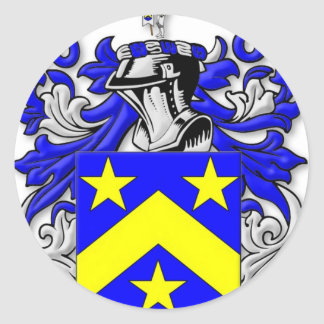 Monahan Coat of Arms Classic Round Sticker