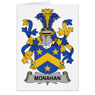 Monahan Family Crest Greeting Card