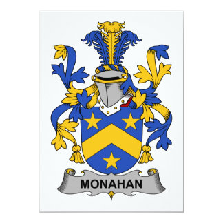 Monahan Family Crest 5x7 Paper Invitation Card