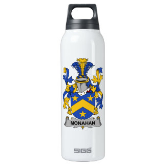 Monahan Family Crest 16 Oz Insulated SIGG Thermos Water Bottle