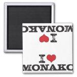 Monako v3 horizontal, Monako I h del corazón de Mo Imán De Frigorifico