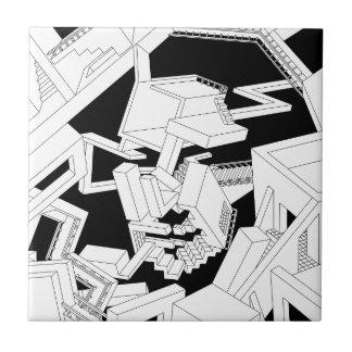 Monalisa face ceramic tile