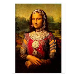 Monalisa real indio tarjeta postal