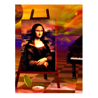 Monalisa Smile Surreal Postcards