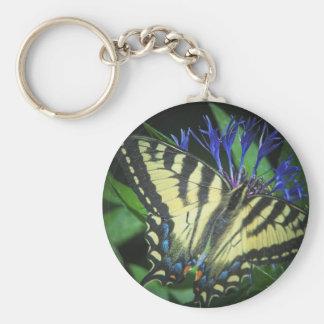Monarca amarillo llavero