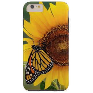 Monarca Butterfies en el girasol Funda Para iPhone 6 Plus Tough