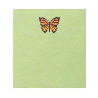 Monarca de la mariposa colorido blocs de notas
