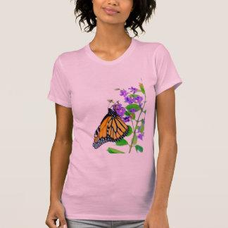 Monarca en el flor camisetas