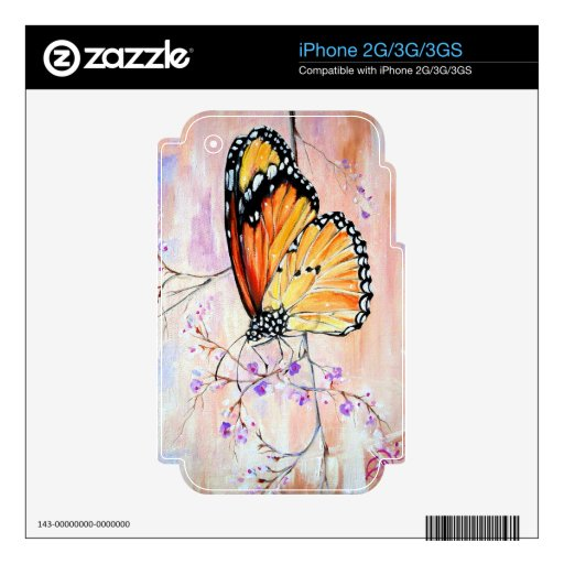 Monarca en primavera iPhone 3 calcomanías