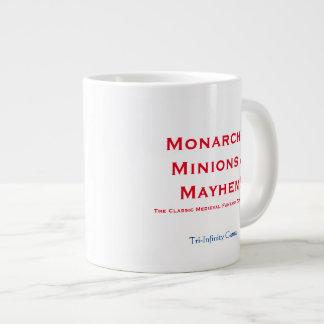 ¡Monarcas, subordinados y mutilación! Taza de café Taza Grande