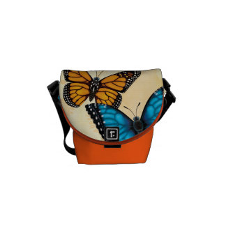 Monarch and Blue Morpho Butterfly Bag